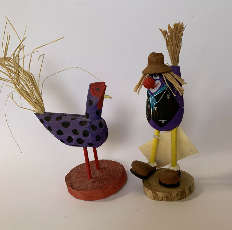 NATIVE AMERICAN NAVAJO FOLK ART CHICKEN CLOWN ROOSTER BY CHANDLER BEGAY and HERB