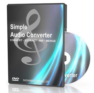 Simple Audio Converter Software - Convert Audio Files MP3 WMA WAV - Rip Merge Mp3 Wma Audio Converter