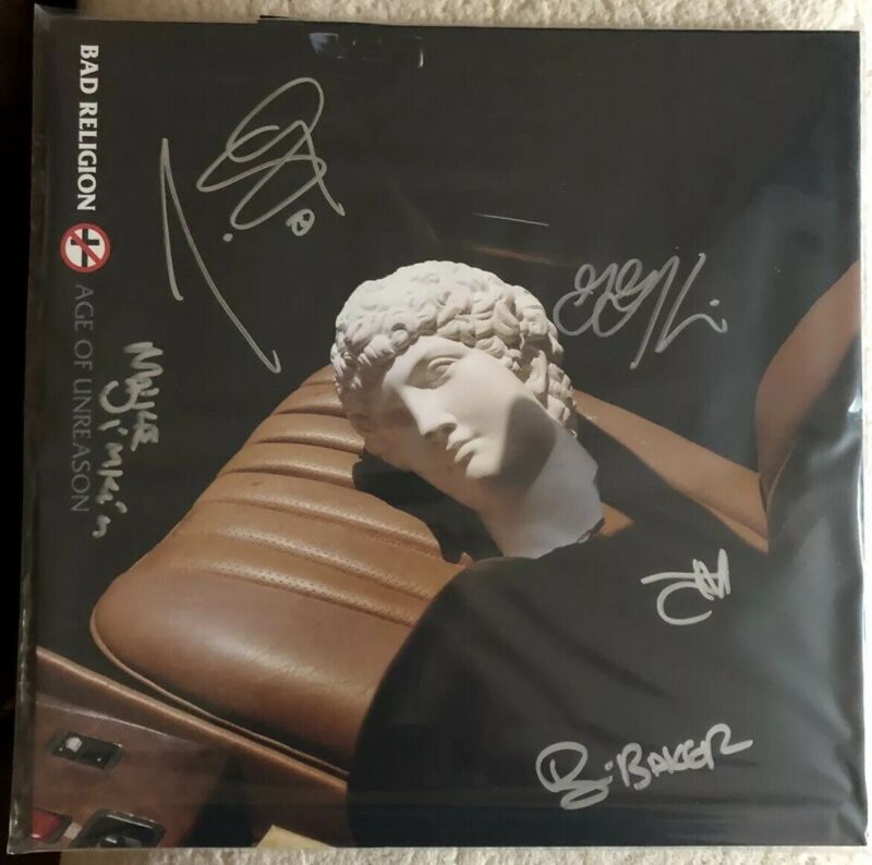 BAD RELIGION Signed Autographed  LP AGE OF UNREASON