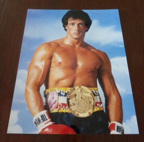 Sylvester Stallone Rocky Sexy 8x10 Color Promo Photo