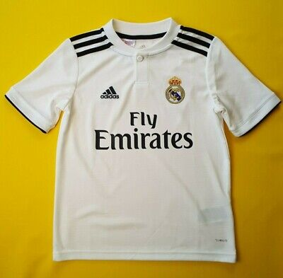 b7c086f38 5+ 5 Real Madrid kids jersey 9-10 y. 2019 home shirt CG9554 soccer Adidas  ig93
