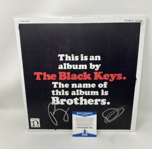 """THE BLACK KEYS SIGNED """"BROTHERS"""" DELUXE REMASTERED VINYL BECKETT AUTOGRAPH AUTO"""