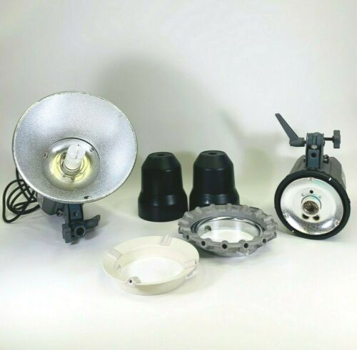 Lot of 2 Interfit EXD400 Digital Flash Head And Accessories