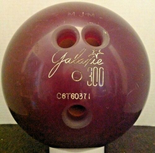 Vintage Galaxie 300 Bowling Ball  Color Marbled Maroon.