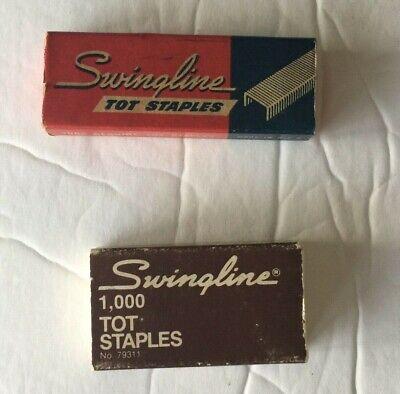 Swingline Tot Staples Vintage Two Boxes