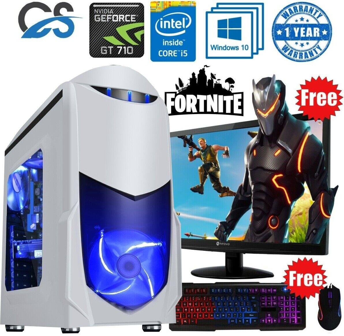 Computer Games - FAST Gaming Computer PC Bundle Intel Core i5 8GB 480GB SSD Windows 10 2GB GT710
