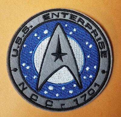 Star Trek USS Enterprise NCC 1701 Logo Patch 3 1/2 inches -