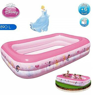 Bestway Disney Princess 262x175x51cm Inflatable Rectangular Family Swimming Pool