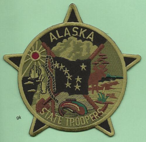 ALASKA STATE TROOPER SUBDUED GREEN POLICE SHOULDER PATCH