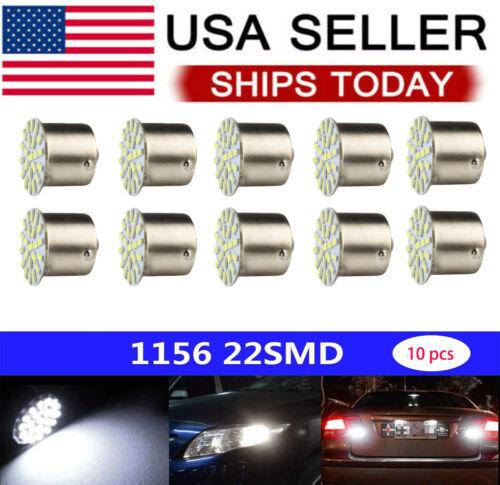 10Pcs LED Car Bulb 1156 BA15S 1206 22SMD Light Brake/Turn/Tail/Revese Lamp White Car & Truck Parts