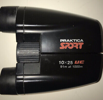 Praktica Sport Ultra Compact Binoculars 10 X 25 (with Leather Case)