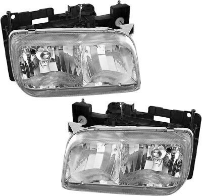 Headlights Headlamps Assembly - Pair Set for 1999-2000 Cadillac Escalade