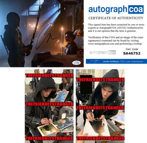 "CURRAN WALTERS signed ""TITANS"" 8X10 PHOTO g PROOF - Deathstroke & Robin ACOA COA"