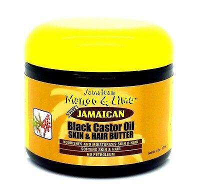 Jamaican mango & Lime Black Castor Oil Skin & Hair Butter 6oz