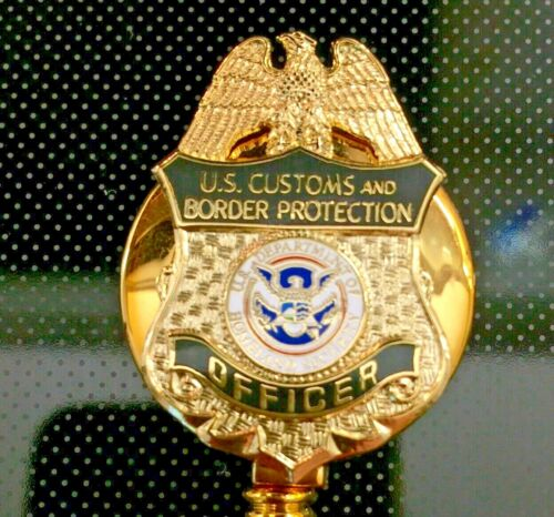 CBP Officer ID Holder Gold Logo on ID Reel