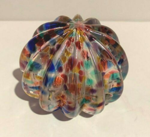ROBERT HELD ART GLASS PAPERWEIGHT HAND MADE BLOWN GLASS SIGNED & LABEL