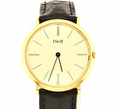 Elegant Men's Solid 18K Gold Piaget Swiss Made  Watch 1 1/4 inches(31mm) case