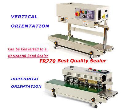 110v Continuous Band Vertical Bag Sealer With Bracket Fr-770 Pvc Bag Sealer