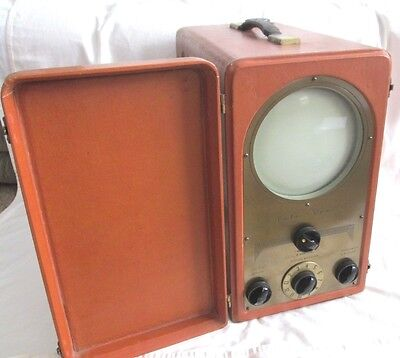 Antique 1948 TELE-TONE Radio Corp. Portable TV