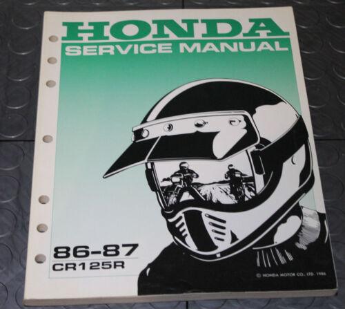 NOS OEM Honda Service Shop Manual NEW 86-87 CR125R CR 125 R