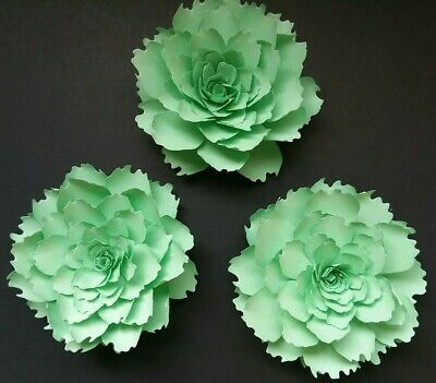 Paper Flowers 3-D Handcrafted Peonies Mint Green Wedding Party DIY Decor - Mint Green Wedding Decorations