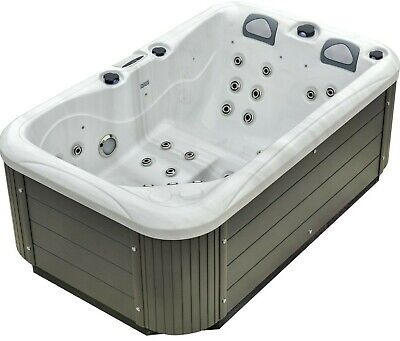 NEW PALM SPAS DUAL LOUNGER HOT TUB SPA 3 SEAT JACUZZI BALBOA MUSIC 13AMP PLUG