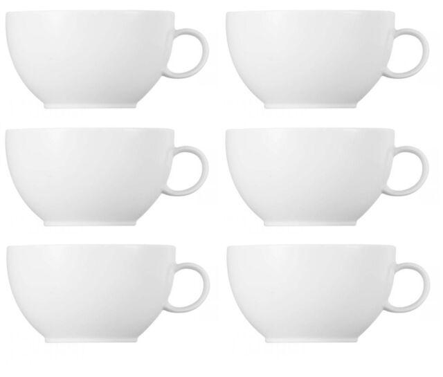 6x Thomas Sunny Day Weiss Cappuccinotasse Obertasse Tasse 0,38l NEU 1.Wahl