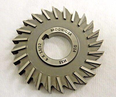 Moon Cutter Hss Side Milling Cutter 4 X 1332 X 1-14 24 Teeth Sm4406