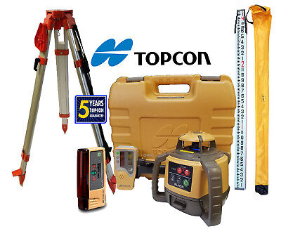 Topcon Rl-h5a Db Laser Level Package Plus Ls-b10 13 Ft Inches Rod Tripod