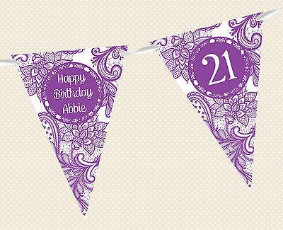 personalisiert Henna / Mehndi Geburtstag Alter Banner Party-Dekoration 12