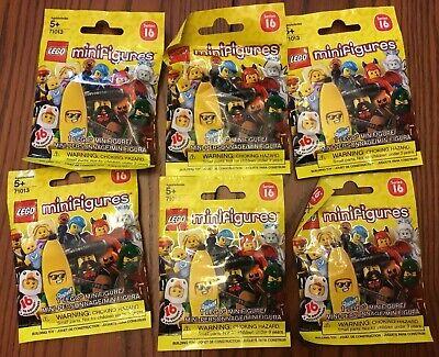 NEW six (6) packs LEGO minifigure SERIES 16 blind bag 71013 random SEALED