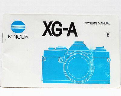 Инструкции и руководства Minolta XG-A 35mm