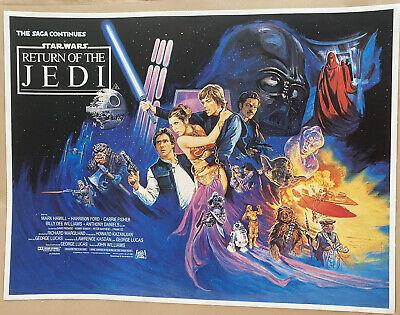 Return Of The Jedi (Star Wars) LINEN BACKED UK Quad (1983) w/Cert Action Style