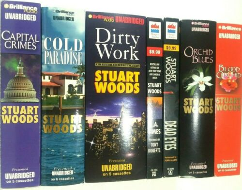 Stuart Woods Audio Book on Cassette Lot of 7