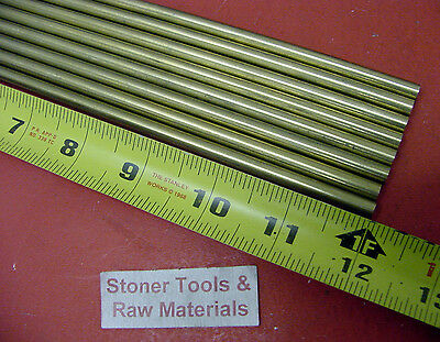 12 Pieces Of 14 C360 Brass Solid Round Rod 12 Long .250 Lathe Bar Stock