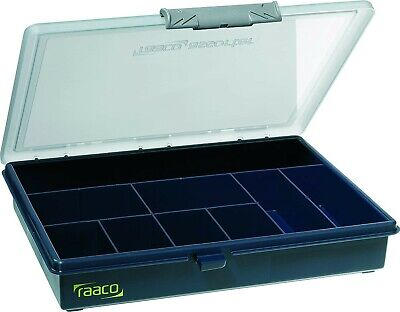 raaco assorter 5-9 Assortment Box, 9 Compartment Storage Organiser Box - Blue, used for sale  Shipping to Ireland
