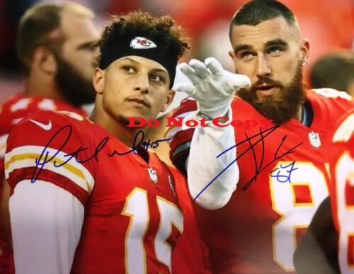 Patrick Mahomes & Travis Kelce Kansas City Chiefs Autographed Signed 8x10 Photo