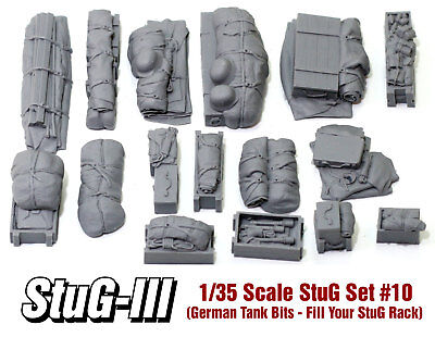 1/35 Scale StuG III/IV Deck Stowage Set #10 (16 Pieces) - Value Gear Resin for sale  Flagstaff