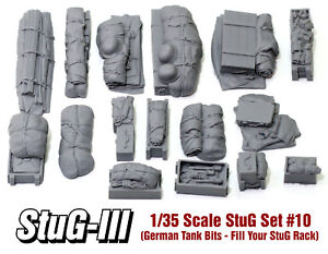 1/35 Scale StuG III/IV Deck Stowage Set #10 (16 Pieces) - Value Gear Resin