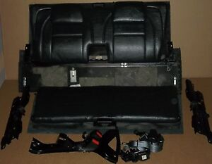 97 98-01 Volvo V70 850 3rd Row Complete 3rd Row Back Seat Belts  Kit Dark/Black
