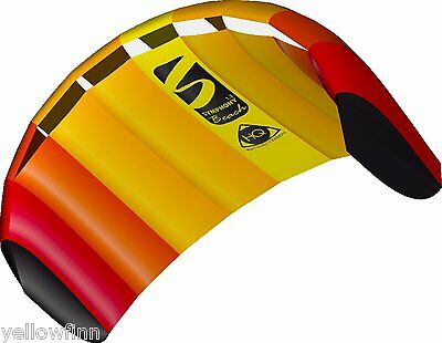 HQ Power Kite Symphony Beach III 1.3M Mango Ready to fly Package for Kids Adults
