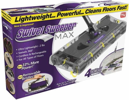 SWIVEL SWEEPER MAX CORDLESS PURPLE COLOR ORIGINAL AS SEEN ON TV ONTEL PRODUCT