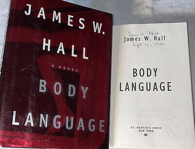 SIGNED Thorn Mysteries Body Language Book James W. Hall 1st ED. 1st Print HC DJ