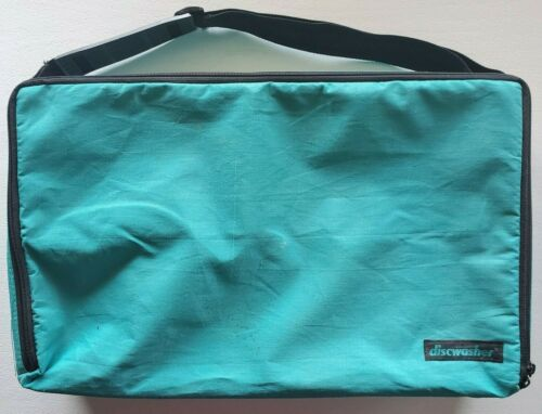 Vintage Teal- DISCWASHER- Storage/Carrying Case/Holder CASSETTES, CDS, DVDS