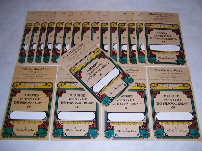 Easton Press bookplates with Classic Design, 30 counts (book plates)