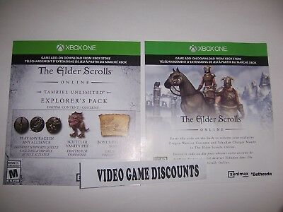 Elder Scrolls Online DLC Add-on Code Xbox One 1 Explorer's Pack + Costume/Mount