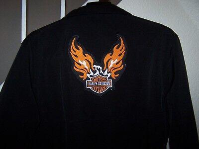 """Harley-Davidson """"flaming eagle"""" patch on back of men's sz Lge (46) black jacket for sale  Lynnwood"""
