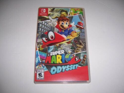ORIGINAL Replacement Case Box Artwork Insert Nintendo Switch Super Mario Odyssey