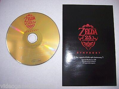 Wii The Legend of Zelda Skyward Sword 25th Anniversary Symphony Music CD &Insert