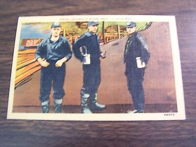 Vintage   Typical Anthracite Miners About To Enter Mine    Unused   Excellent